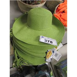 LOT OF NEW GREEN SUN HATS