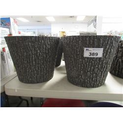 "2 NEW NATURES LOOK 16"" PLANTERS"