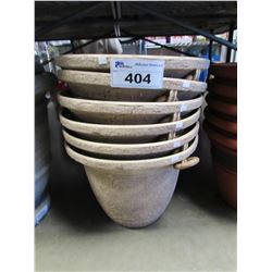 "6 NEW ENVIROBLEND 16"" HANDLED JAR PLANTERS"