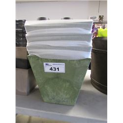 "4 NEW NOVELTY 12"" ARTSTONE COLLECTION SQUARE ELLA SAGE PLANTERS"