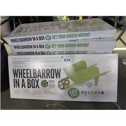 4 NEW WHEELBARROWS IN A BOX