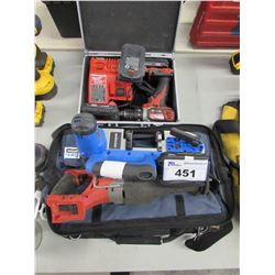 MILWAUKEE DRILL/DRIVER, MILWAUKEE CHARGER & BATTERIES, MILWAUKEE RECIPROCATING SAW,  MASTERCRAFT