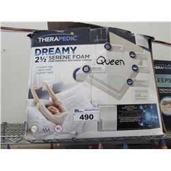 "THERAPEDIC DREAMY QUEEN 2.5"" SERENE FOAM MATTRESS TOPPER"
