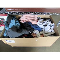 BOX OF ASSORTED WOMANS CLOTHING