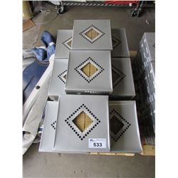PALLET OF CRYSTAL MOSAIC 48.5X48.5X8 TILE (27 BOXES)