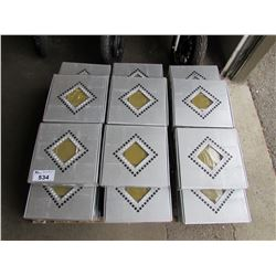 PALLET OF CRYSTAL MOSAIC 98X98X8 TILE (33 BOXES)