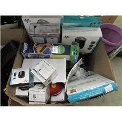 BOX OF VORNADO REPLACEMENT FILTERS, DISNEY STACK 'N DISPLAY SET, CLOTHING PILERS, VORNADO