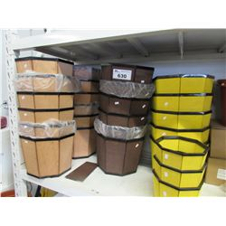 LARGE LOT OF NEW WOODEN PLANTER BOXES