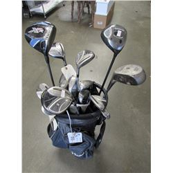 ADAMS CADDY BAG WITH ACCESSORIES & GOLF CLUBS