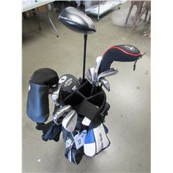 TAYLORMADE CADDY BAG AND ACCESSORIES & GOLF CLUBS