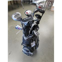 CALLAWAY CADDY BAG WITH ACCESSORIES & GOLF CLUBS