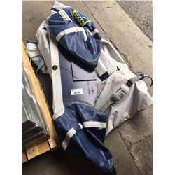 ZODIAC INFLATABLE BOAT (SIZE UNKNOWN) DAMAGED LINER