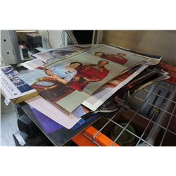 LOT OF SPORTS POSTERS AND OTHER PICTURES, EXPO 86 POSTERS