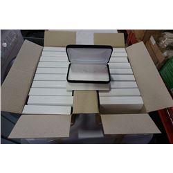 20 JEWELLERY BOXES W/ WHITE INTERIORS