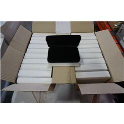 20 JEWELLERY BOXES W/ BLACK INTERIORS