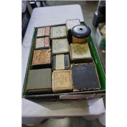BOX OF PLAYER PIANO ROLLS