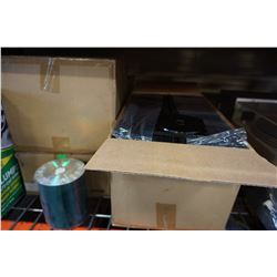 CASE OF NEW CDRS AND 3 BOXES OF DISC CASES