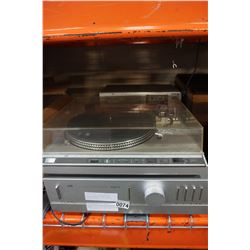 JVC SUPER A INTEGRATED AMP, LF66 AUTOMATIC DIRECT DRIVE RECORD PLAYER, SYNTHESIZER AND CASSETTE DECK