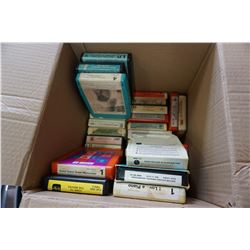 BOX OF 8 TRACK TAPES