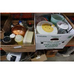 2 BOXES OF VARIOUS KITCHEN ITEMS