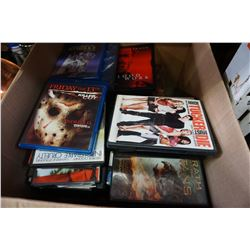 BOX OF DVDS AND MOVIES