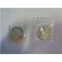 GERMAN 1OZ SILVER COIN AND .999 FINE SILVER CASINO COIN