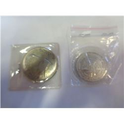 LOT OF CANADIAN 1967 SILVER DOLLAR AND .999 FINE SILVER TRADE DOLLAR