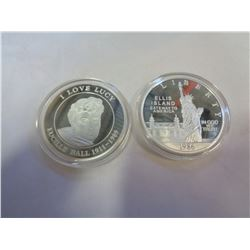 I LOVE LUCY COIN AND ELLIS ISLAND COMMEMORATIVE COIN