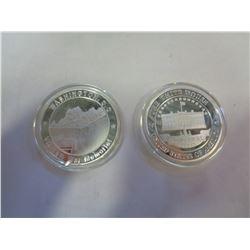 2 WASHINGTON DC COMMEMORATIVE COINS