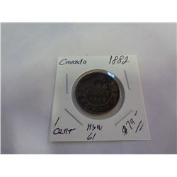 1882 CANADIAN 1 CENT COIN