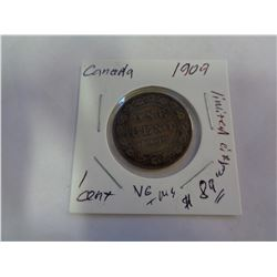 1909 CANADIAN 1 CENT COIN