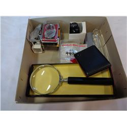 MIXED LOT OF POCKET MAGNIFIERS, JEWELERS LOUP, ETC