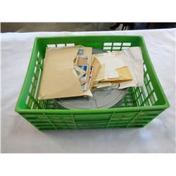 2 TINS AND ENVELOPES OF STAMPS