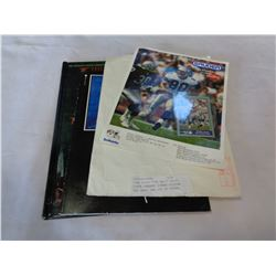"""PINK FLOYD """"THE WALL"""" PRINT, STEVE LARGENT SIGNED PICTURE AND CARD, AND LORD OF THE RINGS VISUAL COM"""