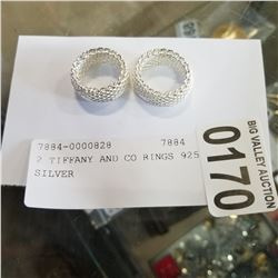 2 TIFFANY AND CO RINGS 925 SILVER