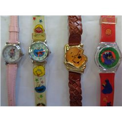 LOT OF COOKIE MONSTER WATCHES AND WHINNIE THE POOH WATCH
