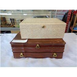 2 JEWELLERY BOXES W/ CONTENTS