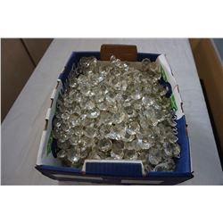 BOX OF CRYSTAL CHANDELIER DROPS
