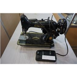 ANTIQUE SINGER SEWING MACHINE W/ PEDAL