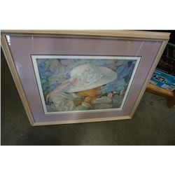 SIGNED LEP AL BUELL REFLECTIONS IN PASTEL