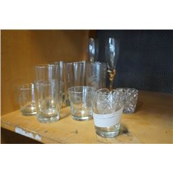 LOT OF CRYSTAL GLASSES