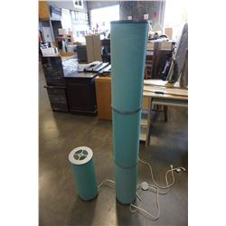 IKEA TEAL FLOOR LAMP AND TABLE LAMP
