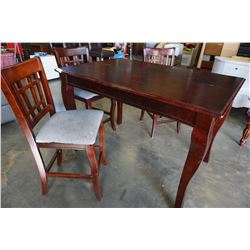 MODERN DINING TABLE W/ LEAF AND 3 CHAIRS