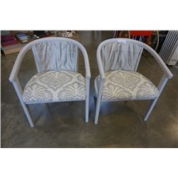 PAIR OF VINTAGE TUB CHAIRS, REUPHOLSTERED AND PAINTED