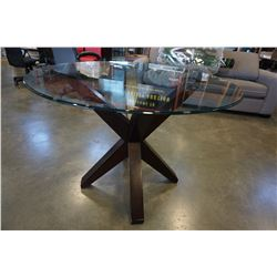 MODERN GLASSTOP DINING TABLE
