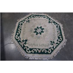 HAND KNOTTED OCTAGON EASTERN CARPET