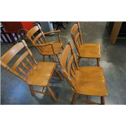 4 ROXTON MAPLE DINING CHAIRS