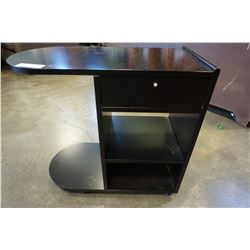 ROLLING BLACK 1 DRAWER STAND