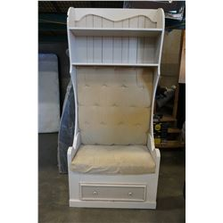 WHITE 1 DRAWER ENTRANCE HALL BENCH