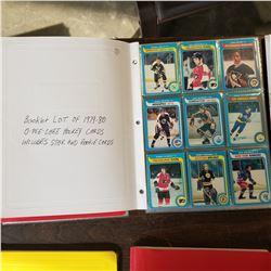 BINDER OF OPEECHEE HOCKEY CARDS 1979-80